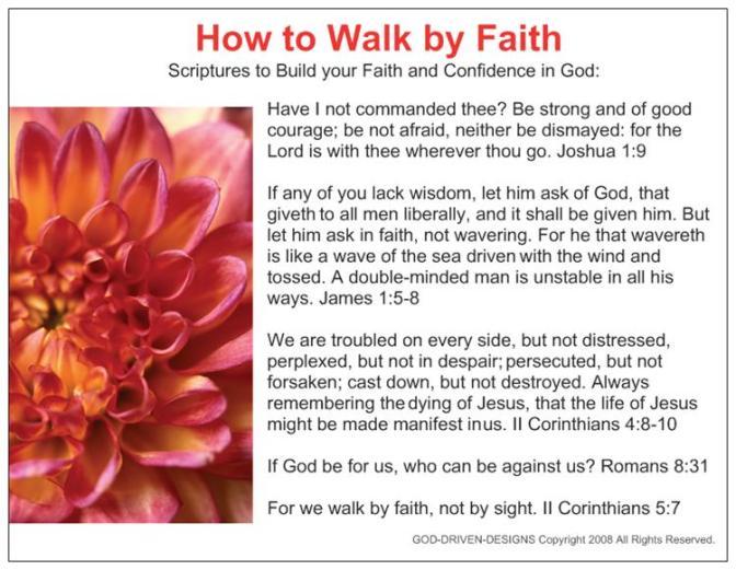 PrayerCardHowtoWalkbyFaith